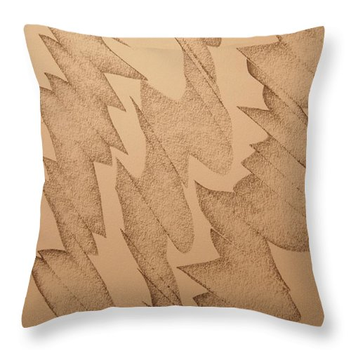 Abstract Throw Pillow featuring the drawing Hypnotic by David Barnicoat