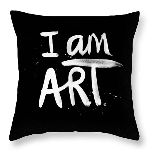 I Am Art Throw Pillow featuring the mixed media I Am Art- Painted by Linda Woods