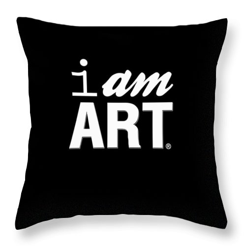 Art Throw Pillow featuring the digital art I Am Art- Shirt by Linda Woods