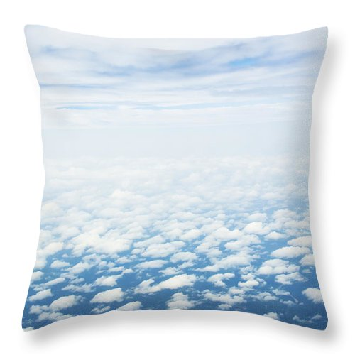Landscape Throw Pillow featuring the photograph I Am From Above by Oghenefego Ofili