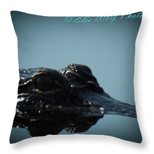 Nature Throw Pillow featuring the photograph I Am Gator, No. 95 by Elie Wolf