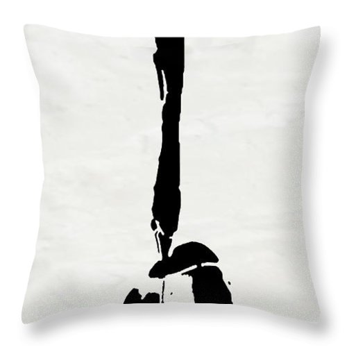 Abstract Throw Pillow featuring the digital art I Am Here by Ken Walker
