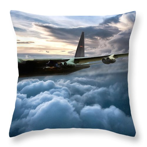 Aviation Throw Pillow featuring the digital art I Am Legend B-52 by Peter Chilelli