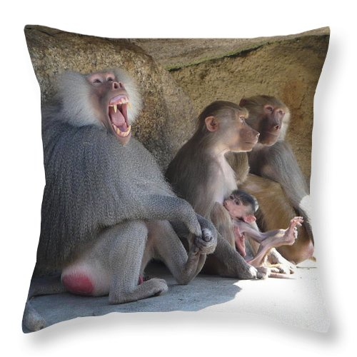 Animal Throw Pillow featuring the photograph I Am The King Here by Valerie Ornstein