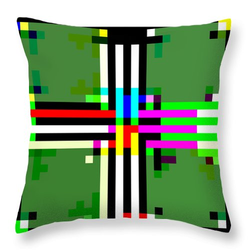Square Throw Pillow featuring the digital art I Am Your Servant 1 by Eikoni Images