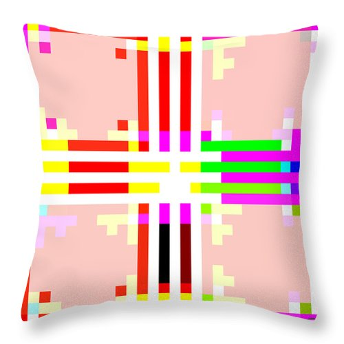 Square Throw Pillow featuring the digital art I Am Your Servant 2 by Eikoni Images