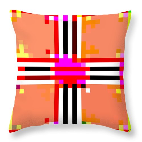 Square Throw Pillow featuring the digital art I Am Your Servant 3 by Eikoni Images