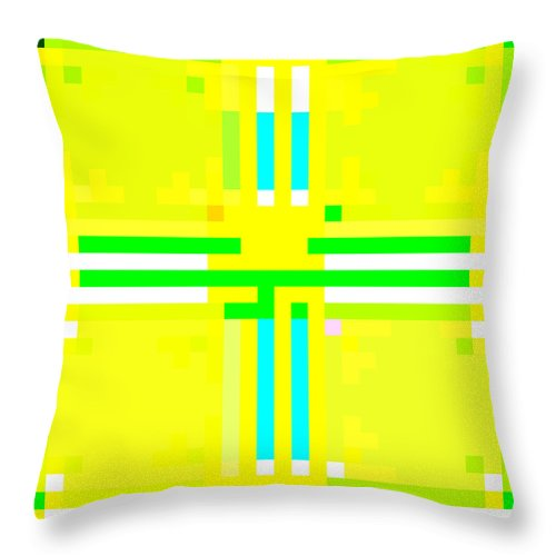 Square Throw Pillow featuring the digital art I Am Your Servant 4 by Eikoni Images