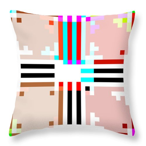 Square Throw Pillow featuring the digital art I Am Your Servant 5 by Eikoni Images