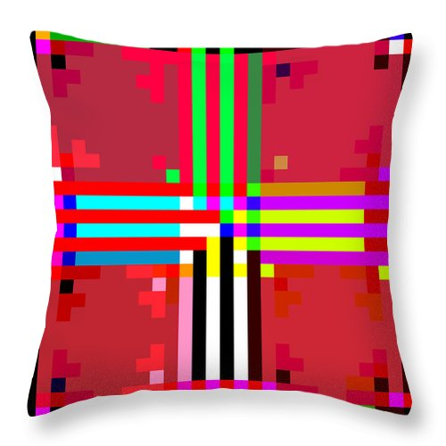 Square Throw Pillow featuring the digital art I Am Your Servant 6 by Eikoni Images