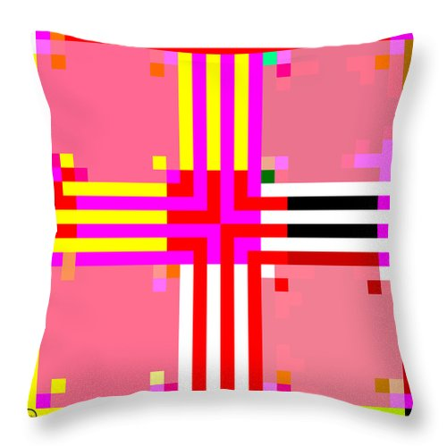 Square Throw Pillow featuring the digital art I Am Your Servant 7 by Eikoni Images