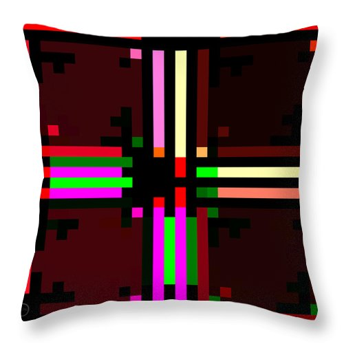Square Throw Pillow featuring the digital art I Am Your Servant 8 by Eikoni Images