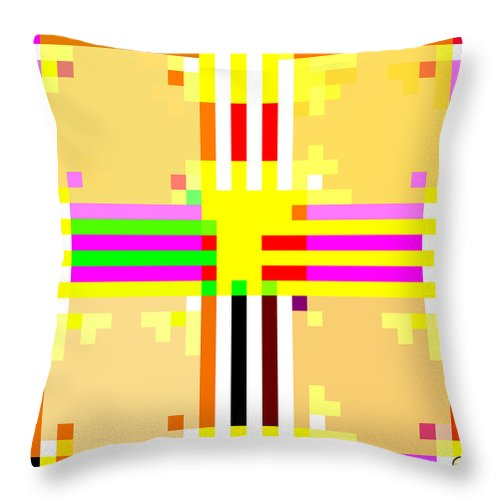 Square Throw Pillow featuring the digital art I Am Your Servant 9 by Eikoni Images