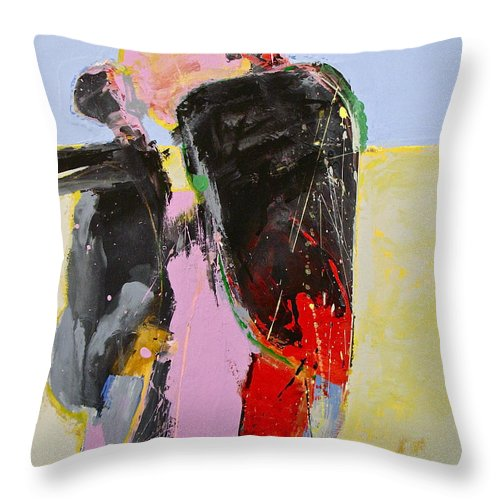 Abstract Painting Throw Pillow featuring the painting I And I And I by Cliff Spohn