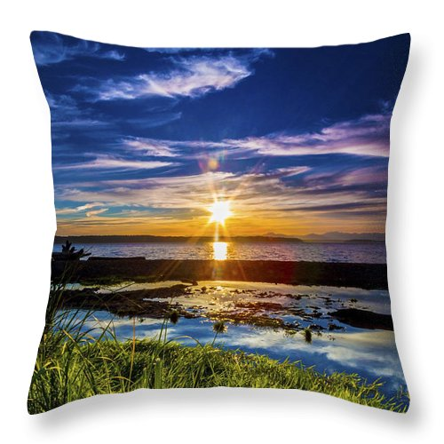 Sunsets Throw Pillow featuring the photograph I Can Dream, Can't I? by Larry Waldon