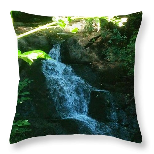 Landscape Throw Pillow featuring the photograph I Do Believe In Fairies by Delila Wysong