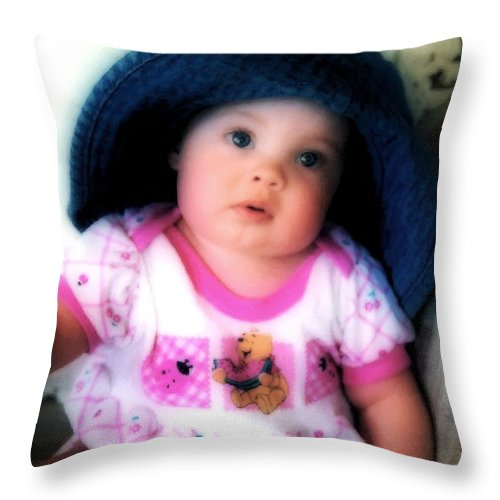 Baby Throw Pillow featuring the digital art I Dont Think So by RC DeWinter