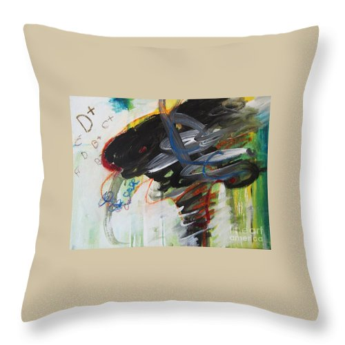 Abstract Paintings Paintings Abstract Art Paintings Throw Pillow featuring the painting I Got D by Seon-Jeong Kim