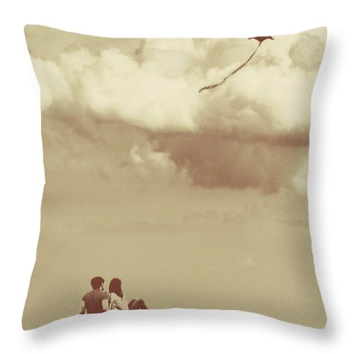 Dipasquale Throw Pillow featuring the photograph I Had A Dream I Could Fly From The Highest Swing by Dana DiPasquale