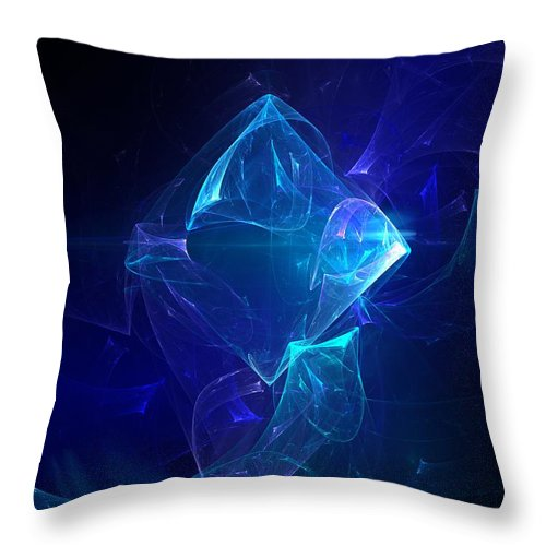 Abstract Digital Photo Throw Pillow featuring the digital art I Had Too Much To Dream Last Night by David Lane