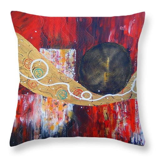 Abstract Throw Pillow featuring the painting I Hear Music by Cheryl Ehlers
