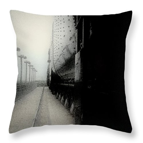 Train Throw Pillow featuring the digital art I Hear That Lonesome Whistle Blow by RC deWinter