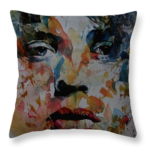 Mick Jagger Throw Pillow featuring the painting I Know It's Only Rock N Roll But I Like It by Paul Lovering
