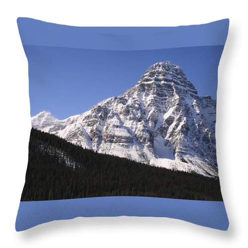 Rocky Mountains Throw Pillow featuring the photograph I Love The Mountains Of Banff National Park by Tiffany Vest
