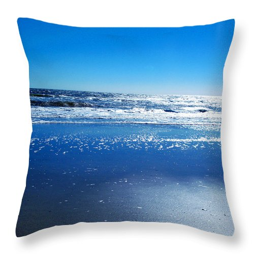 Ocean Throw Pillow featuring the photograph I Love You by Brittany Horton