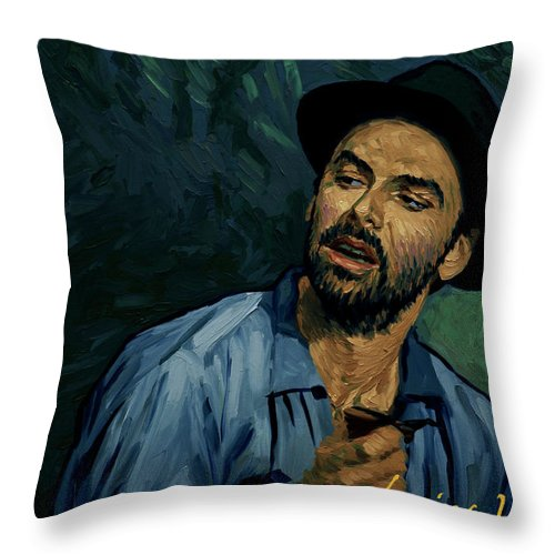 Throw Pillow featuring the painting I Never Got to Speak a Word With Her by Tetiana Ocheredko