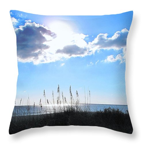 Ocean Throw Pillow featuring the photograph I Sat And Watched The Sun Go Down by Ian MacDonald