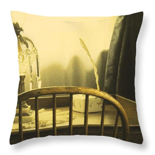 Pioneer Throw Pillow featuring the photograph I Sat Down To Write by Ian MacDonald