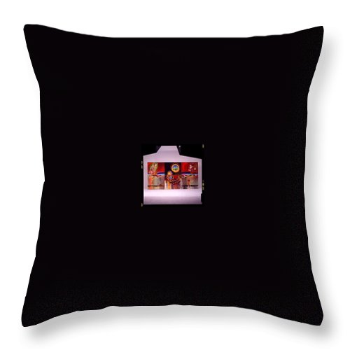Spiderman Throw Pillow featuring the painting I Saw The Figure Five In Gold by Charles Stuart