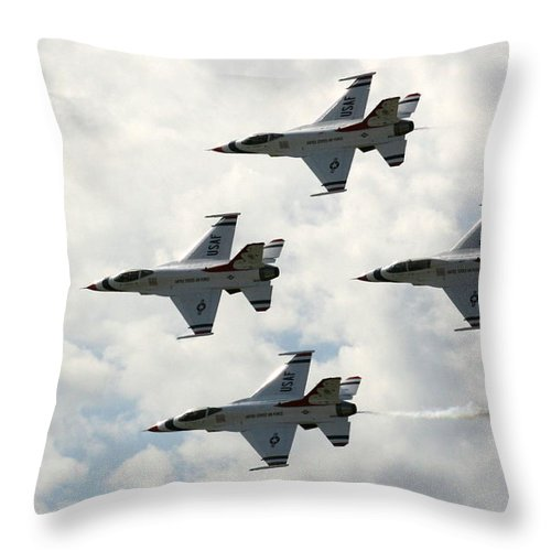 Airplane Throw Pillow featuring the photograph I Think I Am Out Of Gas by David Dunham