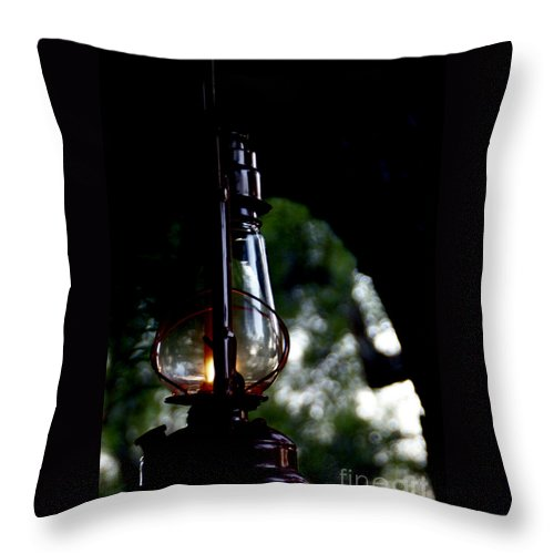 Lantern Throw Pillow featuring the photograph I Will Guide You by Linda Shafer