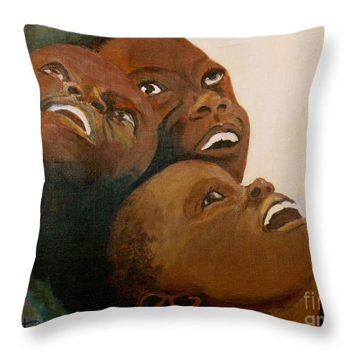Bahamas Throw Pillow featuring the painting I Will Lift Up My Eyes by Donna Steward