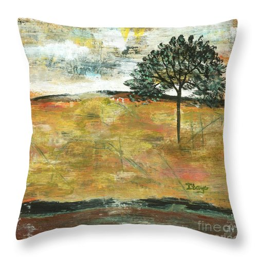 Landscape Throw Pillow featuring the painting I Will Remember by Itaya Lightbourne
