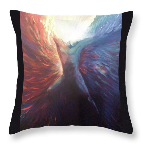 Icarus Throw Pillow featuring the painting Icarus by Patti Lane