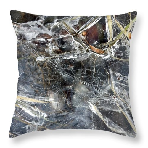 Ice Throw Pillow featuring the photograph Ice Art I by Joanne Smoley