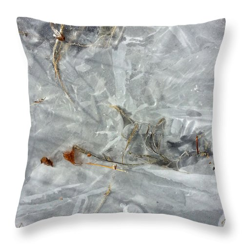 Ice Throw Pillow featuring the photograph Ice Art V by Joanne Smoley