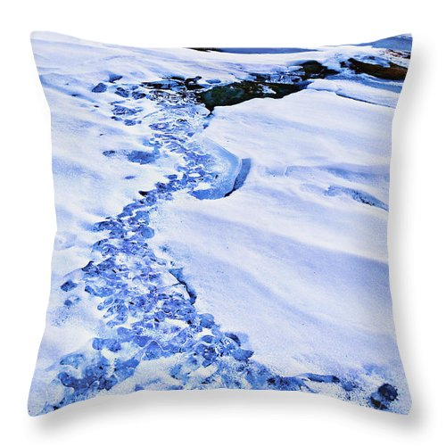 Mt. Hood Throw Pillow featuring the photograph Ice Cube Creek by John Christopher