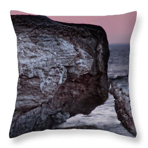 Ice Throw Pillow featuring the photograph Ice Dunes IIi by Gaby Swanson
