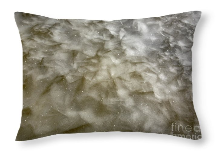 Ice Throw Pillow featuring the photograph Ice Formations During The Winter Months by Erin Paul Donovan