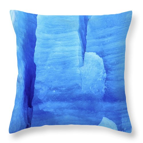 Glacier Throw Pillow featuring the photograph Ice Formations by James Brunker