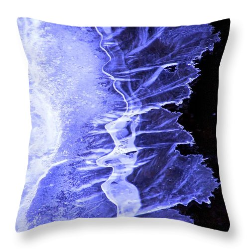 Ice Throw Pillow featuring the photograph Blue Ice by Tiffany Vest