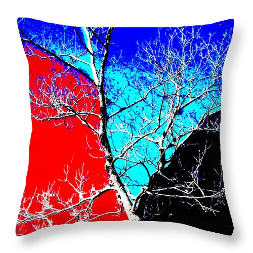 Square Throw Pillow featuring the digital art Ice Tree by Eikoni Images