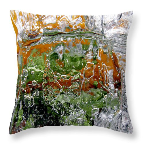 Vase Throw Pillow featuring the photograph Ice Vase by Sami Tiainen