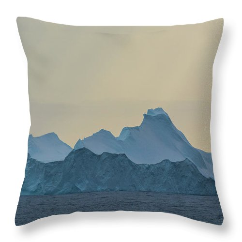Landscape Throw Pillow featuring the photograph Iceberg In The Antarctic Peninusla by Inger Hogstrom