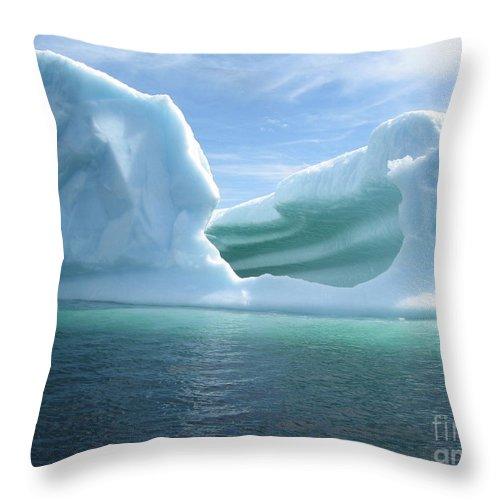 Photograph Iceberg Ocean Summer Newfoundland Throw Pillow featuring the photograph Iceberg by Seon-Jeong Kim
