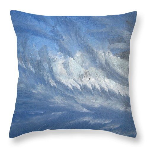 Ice Throw Pillow featuring the photograph Icescapes 1 by Rhonda Barrett